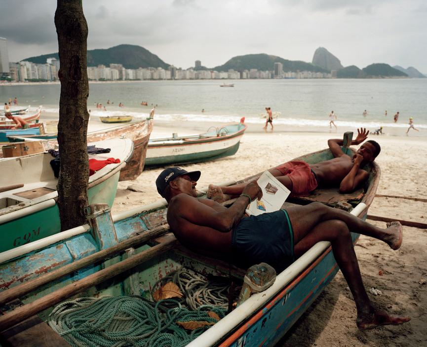 Brazil. Rio de Janeiro. Copacabana Beach. 1996.